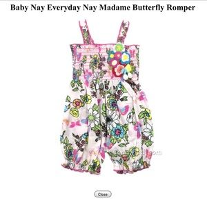 Baby Nay Everyday Nay Madame Butterfly Romper